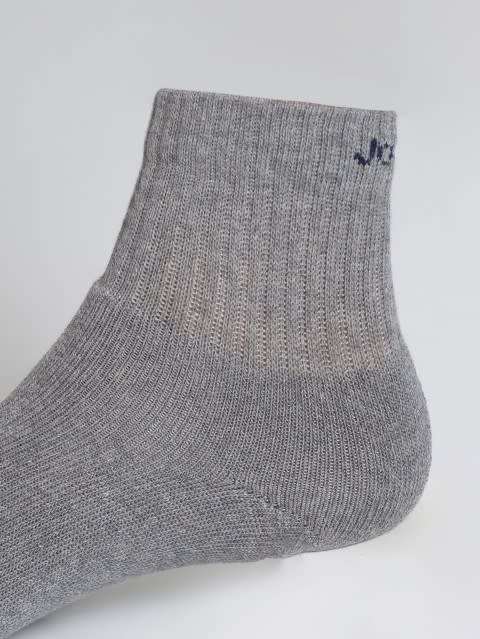 Mid Grey Melange Men Ankle Socks