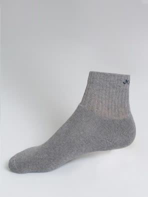 Mid Grey Melange Men Ankle Socks