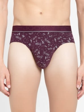 Purple Print06 Men Printed Brief