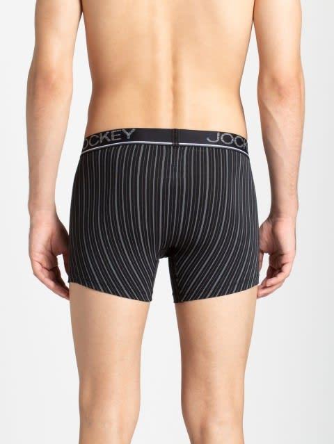 Black Stripes07 Men Printed Trunk