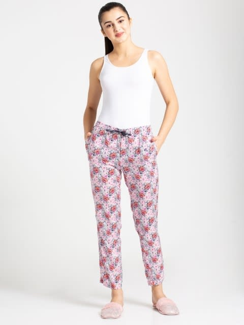 Classic Navy Assorted Prints Woven Long Pant
