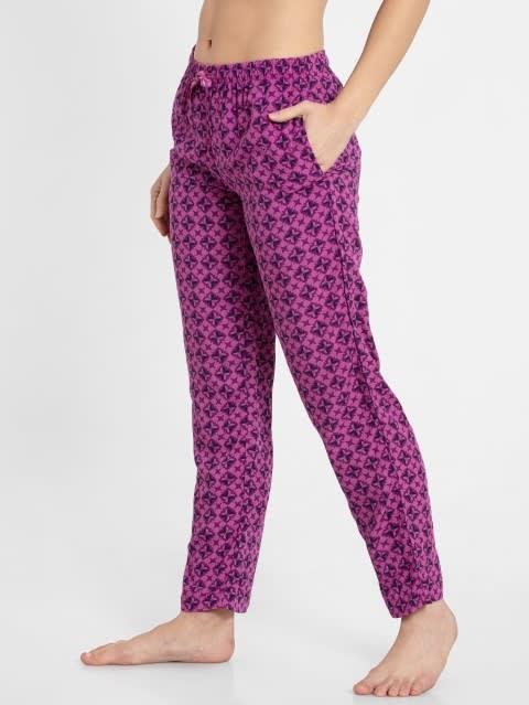 Lavender Scent Assorted Prints Woven Long Pant