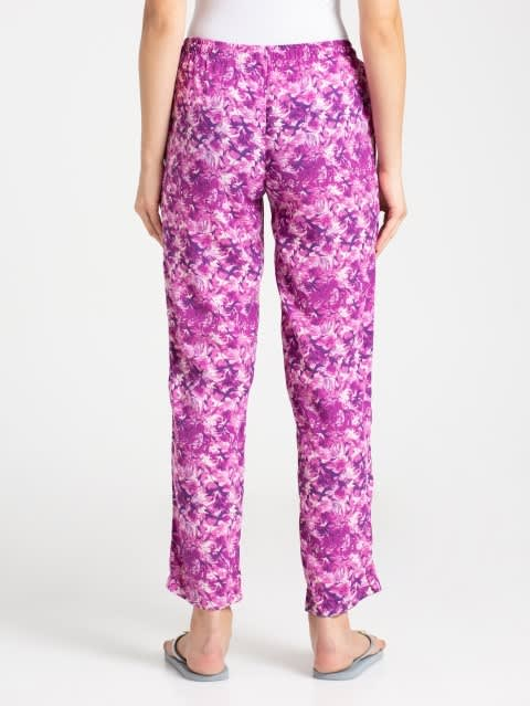 Lavender Scent Assorted Prints Woven Long Pant