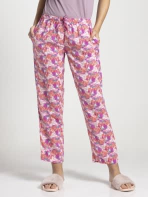 Peach Blossom Assorted Prints Woven Long Pant