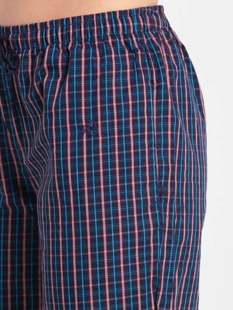 Classic Navy Assorted Checks Long Pant