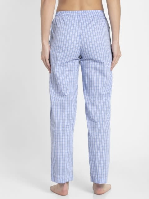Iris Blue Assorted Checks Long Pant
