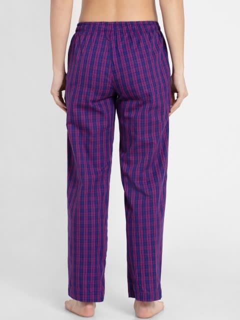 Lavender Scent Assorted Checks Long Pant