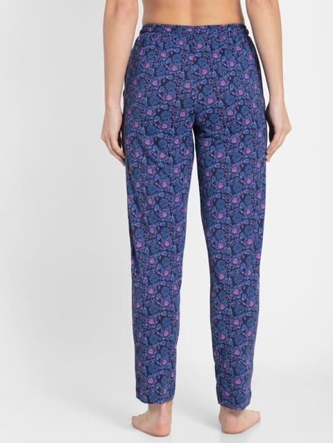 Classic Navy Assorted Prints Knit Lounge Pants