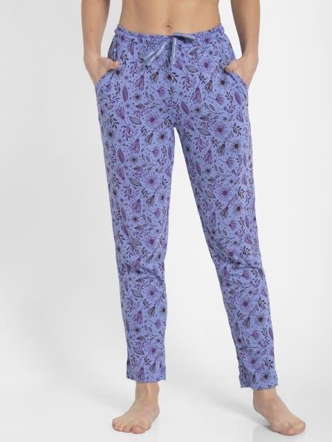 Iris Blue Assorted Prints Knit Lounge Pants