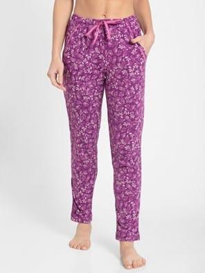 Lavender Scent Assorted Prints Knit Lounge Pants