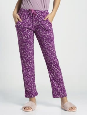 Lavender Scent Assorted Prints Knit Lounge Pants
