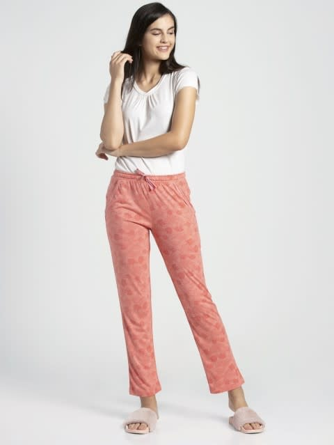 Peach Blossom Assorted Prints Knit Lounge Pants