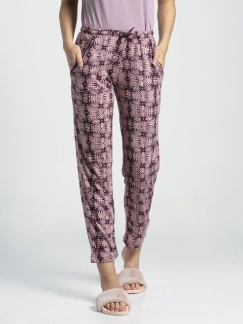 Purple Wine Assorted Prints Knit Lounge Pants