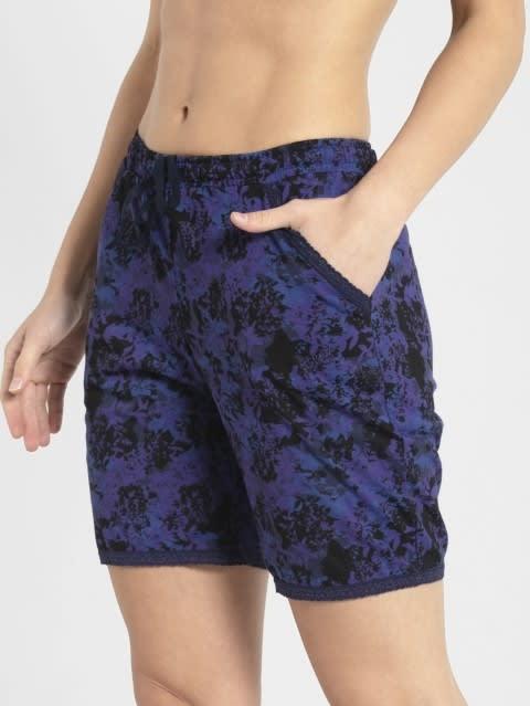 Classic Navy Assorted Prints Knit Sleep Shorts