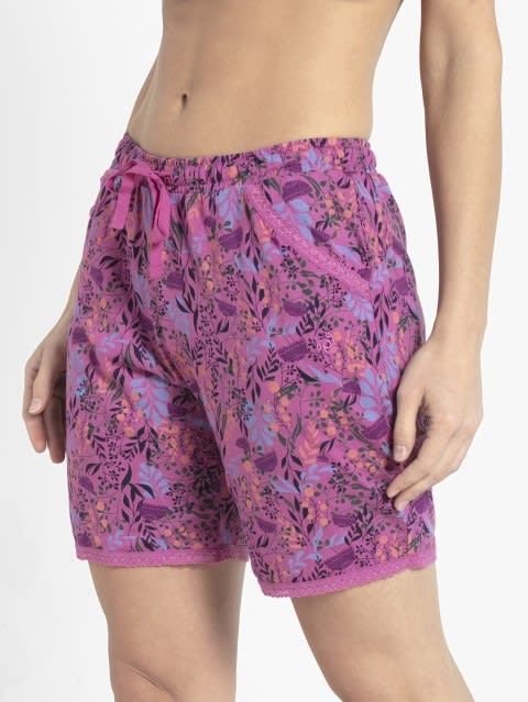 Lavender Scent Assorted Prints Knit Sleep Shorts