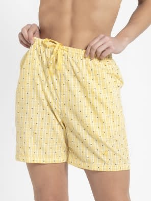 Banana Cream Assorted Checks Woven Knee Length Shorts