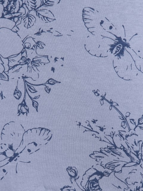 Infinity Blue Assorted Prints Sleep Dress