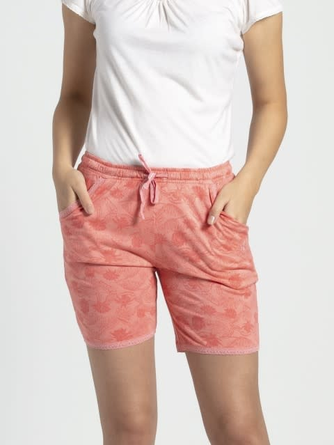 Peach Blossom Assorted Prints Knit Sleep Shorts