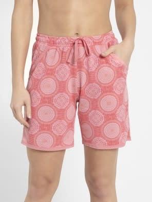 Peach Blossom Assorted Prints Knit Sleep Shorts