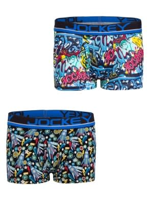 Assorted Prints Boys Trunk Pack of 2