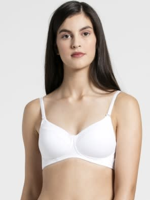 White Full coverage non wired T shirt Bra