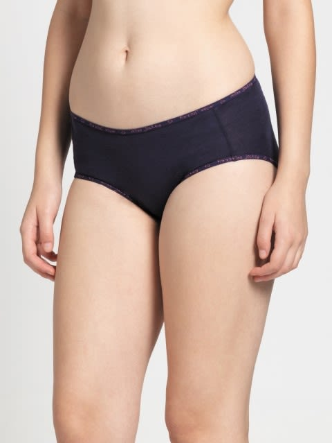 Classic Navy & Black Midwaist Panty Pack of 2