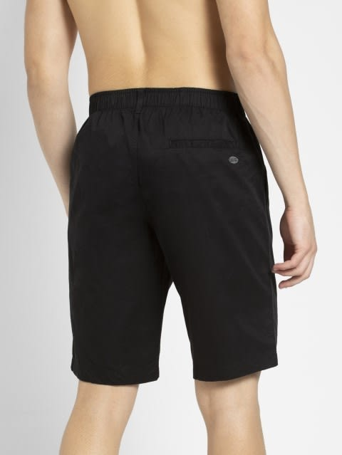 Black Straight fit Shorts