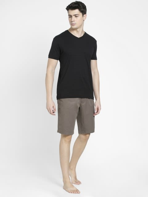 Dark Khaki Straight fit Shorts