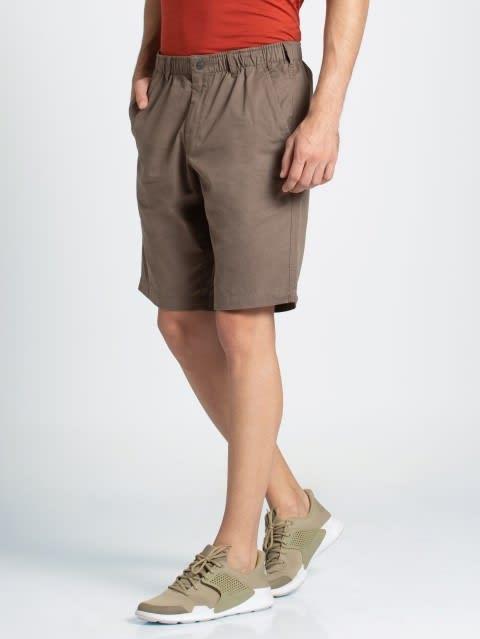 Dark Khaki Straight fit Shorts