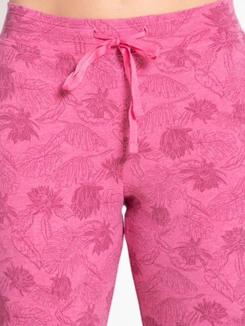 Ibis Rose Melange Printed Capri Pants