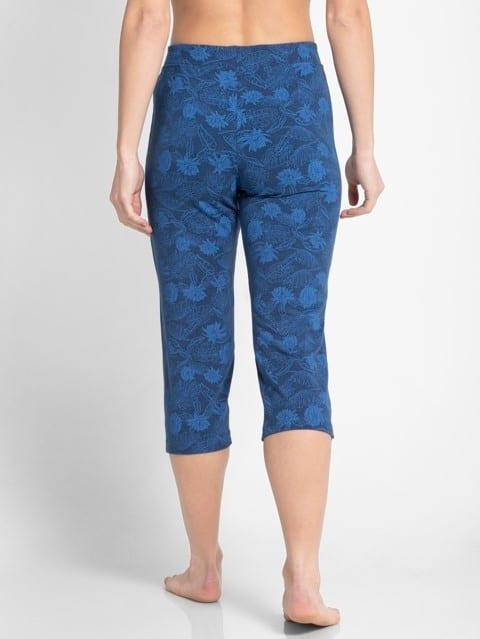 Vintage Denim Melange Printed Capri Pants