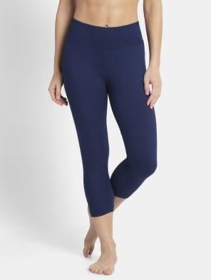 Imperial Blue & J Teal Knit Sports Capri