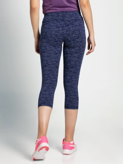Imperial Blue Marl Knit Sports Capri