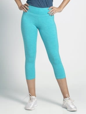 J Teal Marl Knit Sports Capri