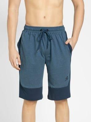 Insignia Blue Melange Shorts
