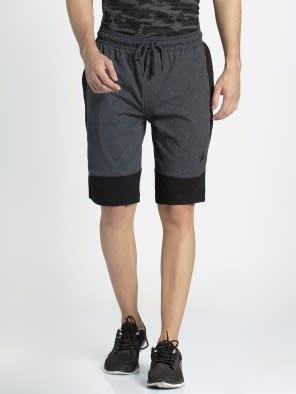 True Black Melange Shorts