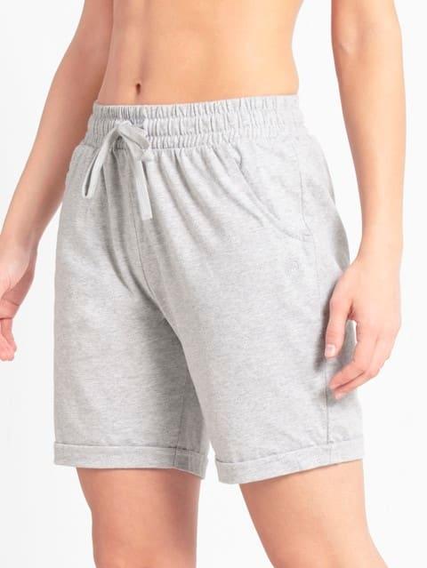 Grey Melange Shorts