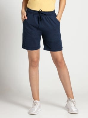 Ink Blue Melange Shorts