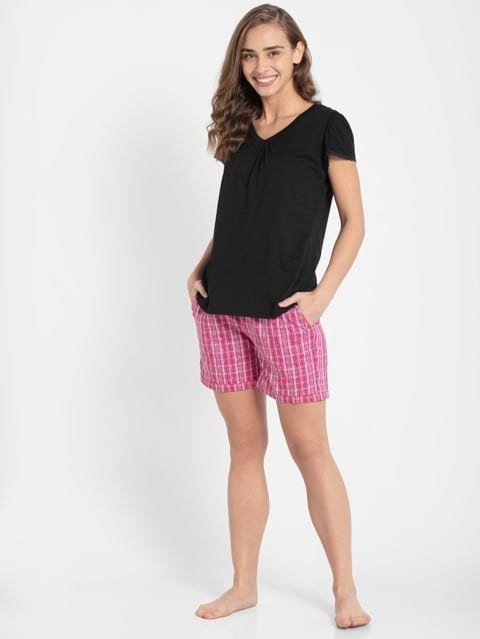 Ruby Assorted Checks Woven Knee Length Shorts