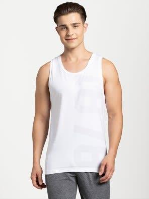 White Print Tank Top