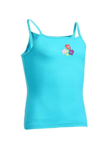 Jet Teal with Assorted Print Girls Camisole