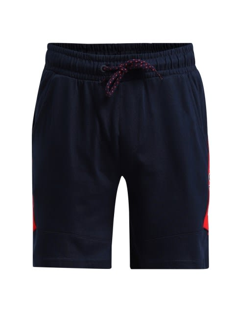 Navy & Team Red Boys Shorts