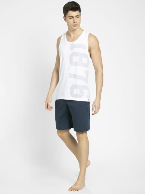 Insignia Blue Prints Straight fit Shorts