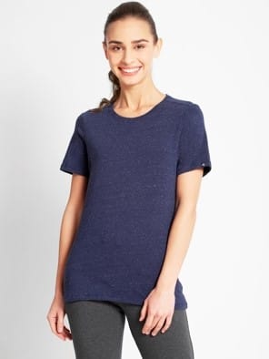 Imperal Blue Snow Melange T-Shirt