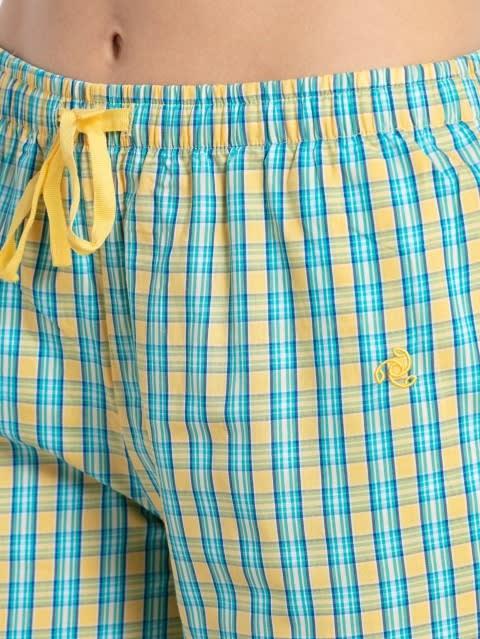 Banana Cream Assorted Checks Long Pant