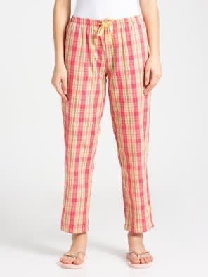 Banana Cream Assorted Checks Long Pant