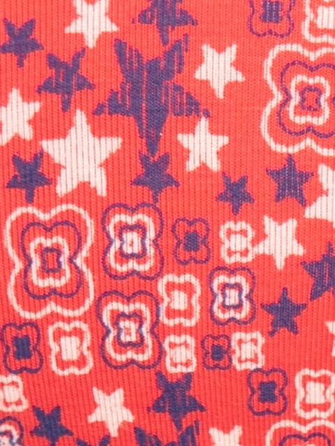 Hibiscus Red Print294 Padded Wire free Bra