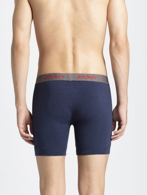 Ink Blue Melange Boxer Brief