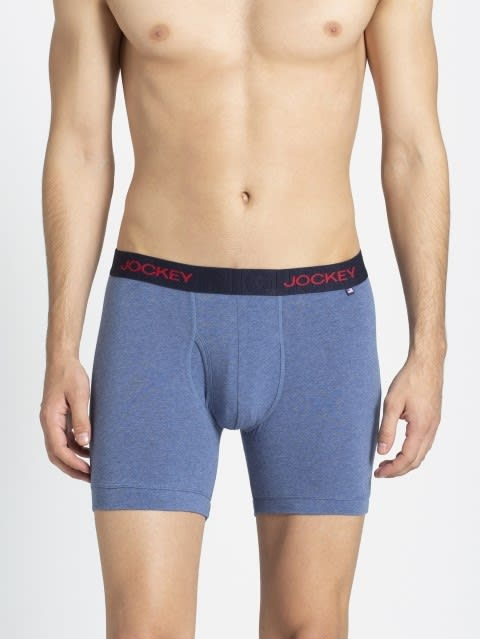 Light Denim Melange Boxer Brief