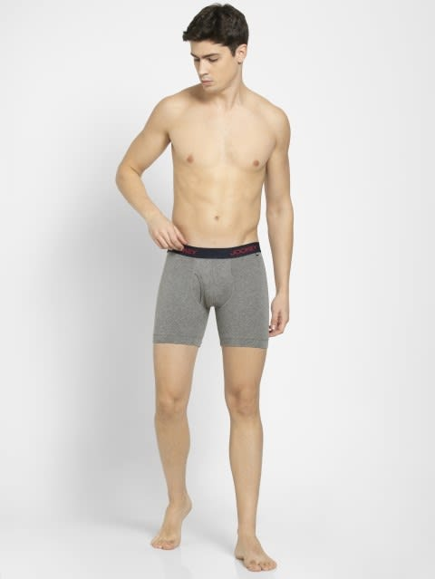 Mid Grey Melange Boxer Brief